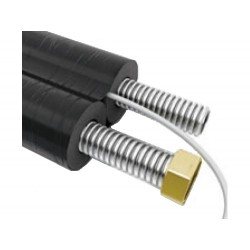 Teava flexibila inox DN16 cu izolatie EPDM si cablu senzor temperatura