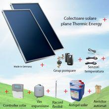 Pachet panouri solare plane 2 x 2.05 mp Thermic Energy FK 206 ME-2A-SW fara boiler solar