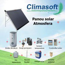 Pachet panou solar Atmosfera 20 tuburi vidate cu boiler bivalent 200 litri