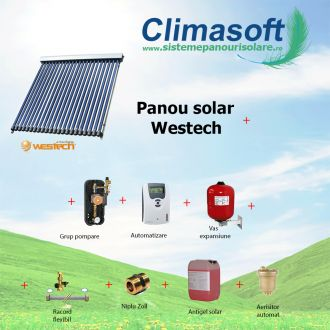 Pachet panou solar Westech SP58-1800A-20 cu 20 tuburi vidate fara boiler