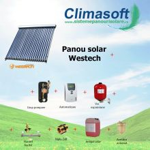 Pachet panou solar Westech SP58-1800A-24 cu 24 tuburi vidate fara boiler