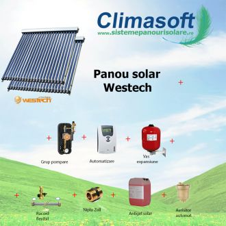 Pachet panouri solare Westech SP58-1800A cu 30 si 20 tuburi vidate fara boiler