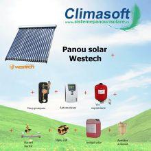 Pachet panou solar Westech WT-B58-1800A-22 cu 22 tuburi vidate fara boiler