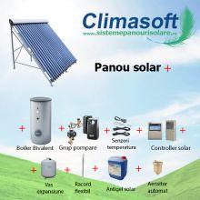 Pachet panou solar Oventrop 30 tuburi vidate cu boiler bivalent 300 litri