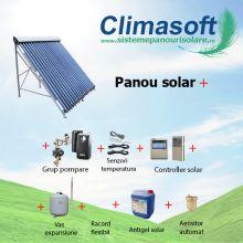Pachet panou solar Sontec SPA 15 tuburi vidate heat-pipe fara boiler