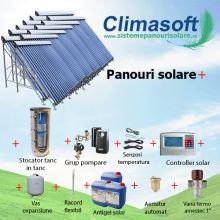 Pachet panouri solare cu aport la incalzire, casa 300 mp