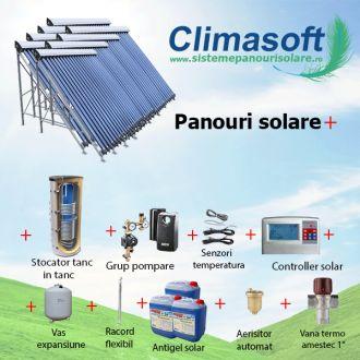Pachet panouri solare cu aport la incalzire, casa 200 mp