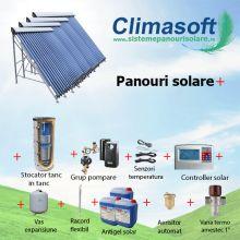 Pachet panouri solare cu aport la incalzire, casa 100 mp