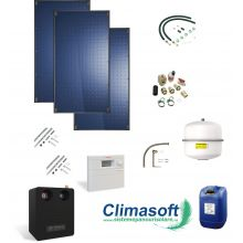 Pachet 3 panouri solare plane Bosch 7000 TF FT226-2V de 2.55 mp fara boiler
