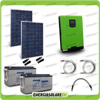 Kit fotovoltaic 540W cu invertor unda pura Edison30 3KW cu regulator PWM 50A si baterii AGM